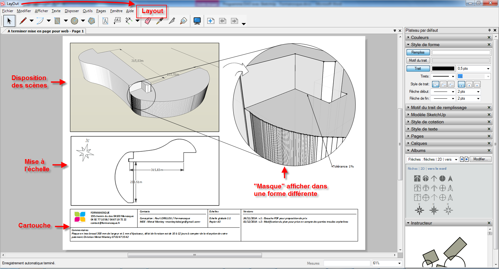Formanosque formation sketchup pro la 3d accessible tous for Fenetre zoom autocad