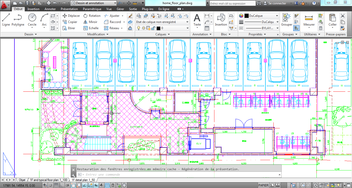 how to break a graph in autocad